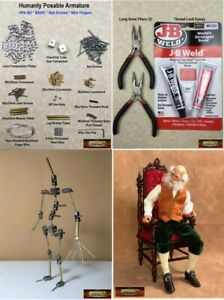 M00272-MOREZMORE-HPA-2R-SIMPLE-Humanly-Posable-Armature-STARTER-Puppet-Kit