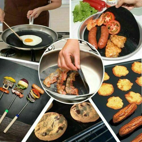 1//3//5x Grillmatte Dauer antihaft BBQ Grillmatten Bratfolie Backmatte Grillschale