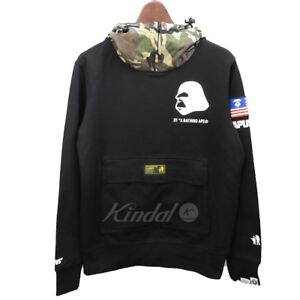 047ee05d54b AAPE BY A BATHING APE AAPE REG HOODIE MENS Black S from Japan F S