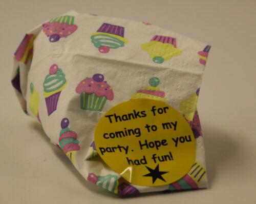 """24 sac de fête /""""merci pour venir à mon parti/"""" Fun Autocollant Étiquettes 30 **"""