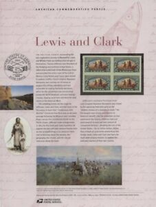 #710 37c Lewis and Clark #3854  USPS Commemorative Stamp Panel