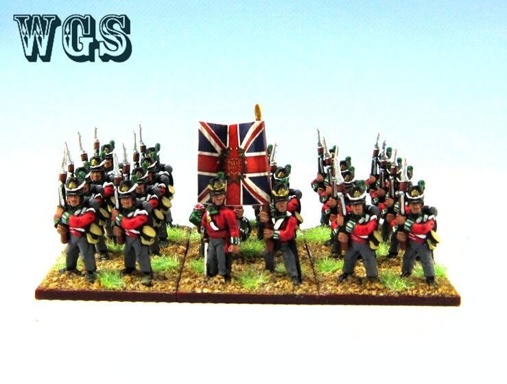 15mm Napoleonska WGS Målat brittiskt infanteriregemänte (24 siffror) NBA3 -1