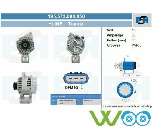 Lichtmaschine Generator TOYOTA YARIS YARIS VITZ ECHO 1.3 1.0 195.573.090.050