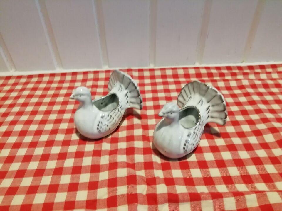 2 keramik fugle, ?