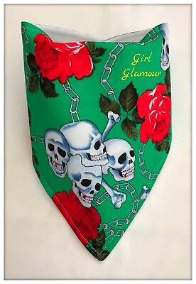 Jumper Red Food Burp Skull Crossbones Fabric Baby Bandana Dribble Bib Bibs