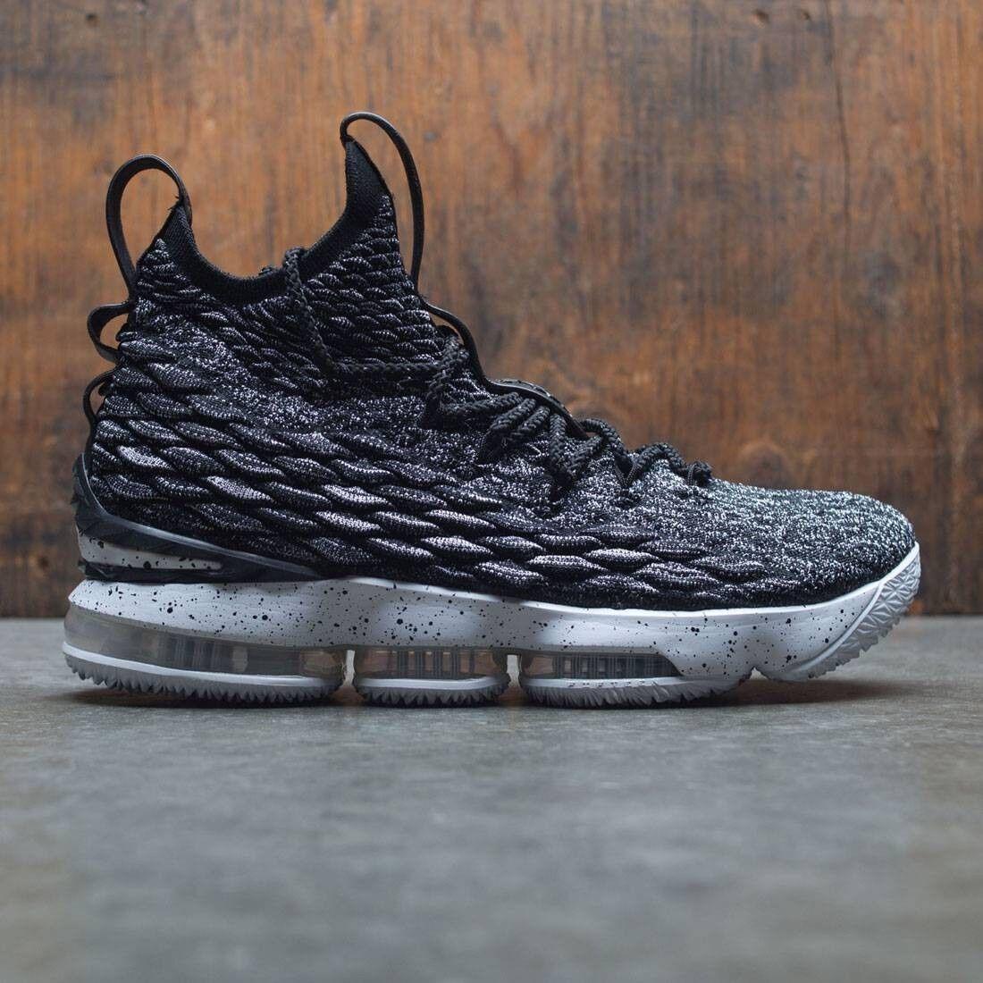 Nike LeBron 15 XV Ashes Black White Oreo Size 14. 897648-002