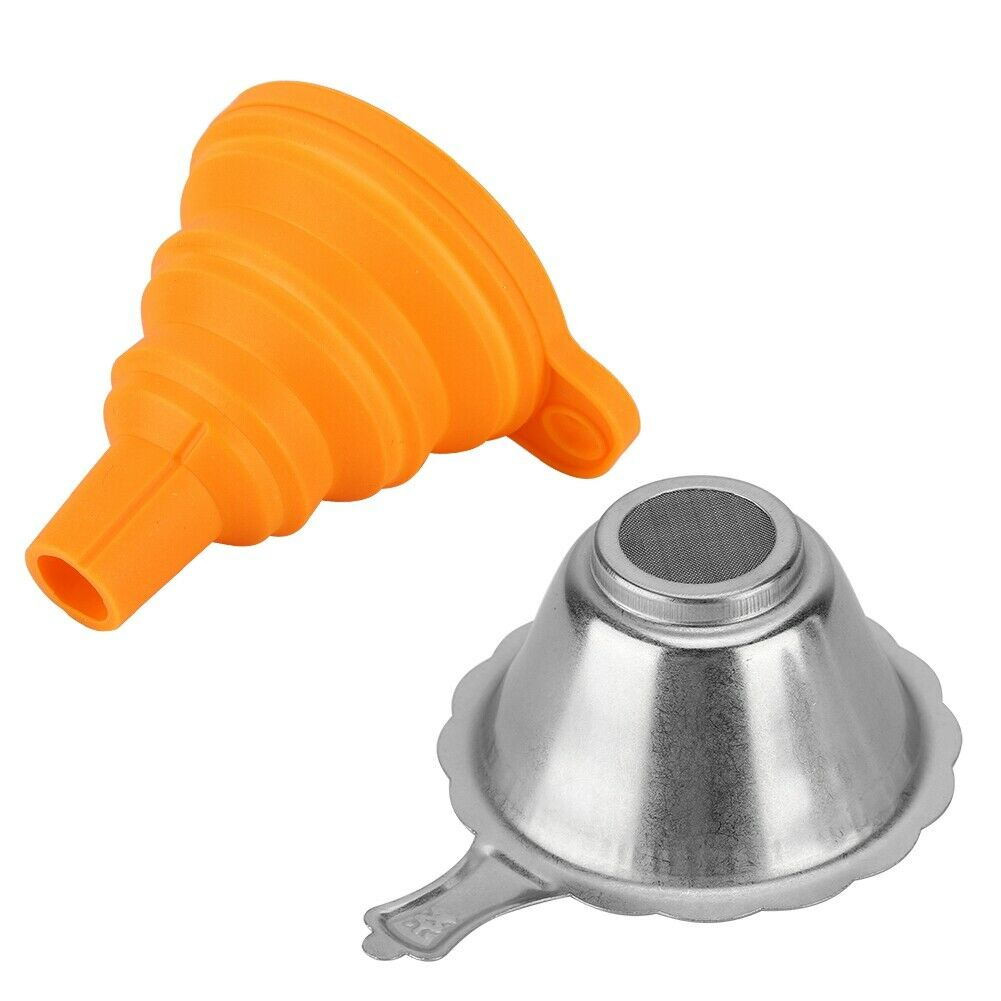 3D Printer Filter Accessories Parts Collapsible Funnel Silicone Foldable Funnels