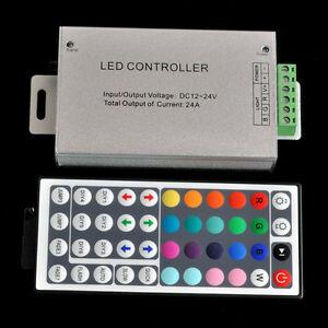 DC-12V-24A-288W-44key-IR-Remote-Controller-Control-RGB-3528-5050-SMD-LED-Strip
