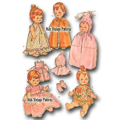 "Littlest Angel Ann Estelle Vtg 60s Baby Doll Clothes Pattern ~ 10/"" Pebbles"