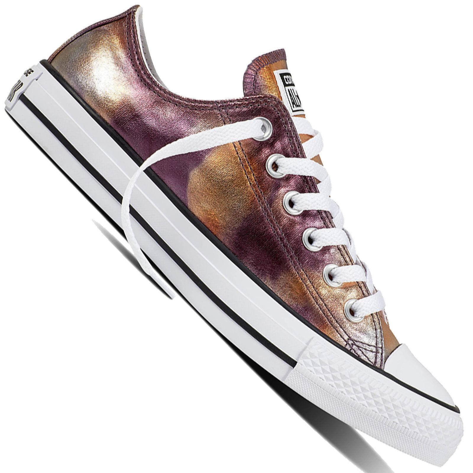 Converse Chuck Taylor All Star Ox Women's Women's Women's Sneaker Gym shoes Metallic gold Chucks 7120a8