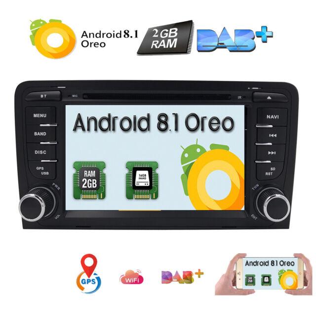 Android 8.1 Autoradio DVD GPS Navi HD SWC BT für AUDI A3 S3 RS3 8P 8V 8PA DAB+