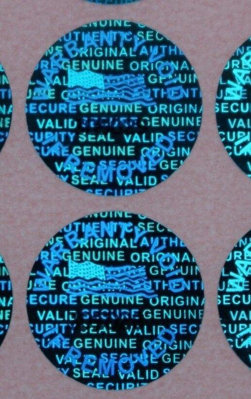 bluee-10000 serial inch 13mm TAMPER EVIDENT SECURITY VOID HOLOGRAM LABELS