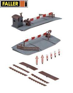 Faller-H0-120173-Beschrankter-Bahnuebergang-NEU-OVP