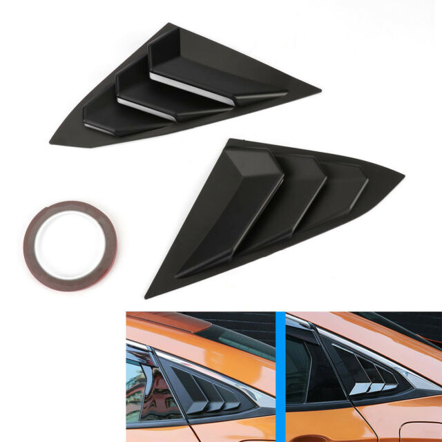 Carbon Fiber Style For Honda Civic 2016-17 Window Louvers Scoop Cover Vent Part