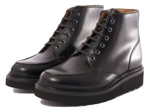 Details zu Grenson Men's Black Buster Pull Up Leather Lace Up Boots. Size UK 9, UK 10