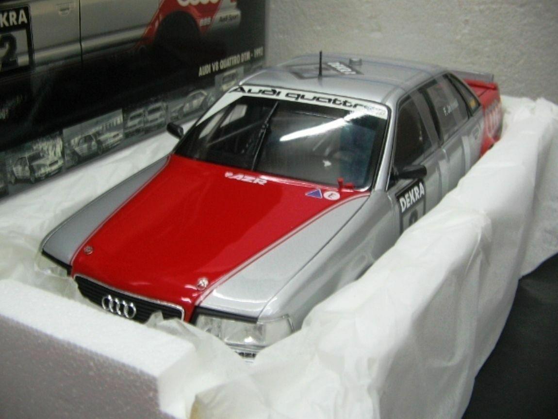 WOW EXTREMELY RARE Audi V8 Quattro 1992 Jelinski Last DTM Race 1 18 Minichamps