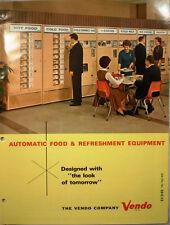 Vtg VENDO Catalog RETRO Refreshment Food Vending Machines Candy Coffee Drink '64