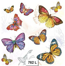 (762) TWO Individual Paper Luncheon Decoupage Napkins - BUTTERFLIES, BUTTERFLY