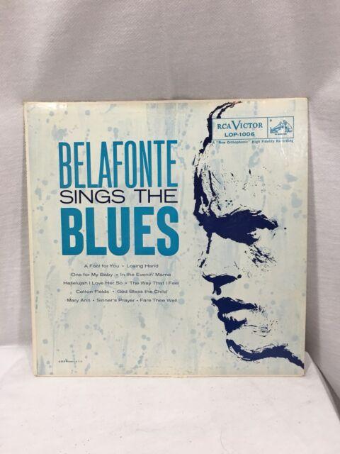 Belafonte Sings the Blues Sony 1950's Vinyl Record
