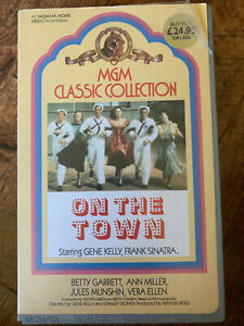 On-the-Town-VHS-1949-MGM-Musical-Classic-Pre-Cert-Video-with-Insert