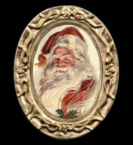 Vintage Victorian Miniature Dollhouse Santa Portrait Christmas Picture