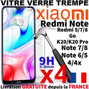 Protection-Ecran-Pour-XIAOMI-REDMI-NOTE-7-8T-Pro-Vitre-Verre-Trempe-Anti-Choc