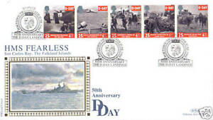 6-de-junio-de-1994-d-dia-aniversario-Benham-primer-dia-cubierta-HMS-Fearless-Shs