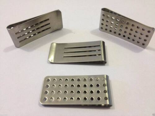 Fashion Wholesale Lots Man Blank Brass//Stainless steel money clip Gift free ship