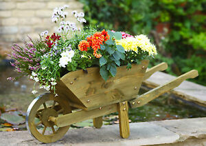 Smart Garden Extra Large Woodland Wooden Wheelbarrow Planter