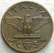 1940   Regno D'Italia  5 centesimi impero