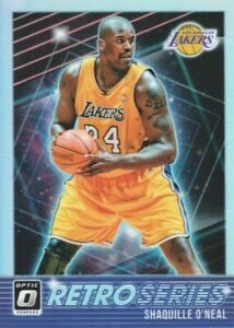 2018-19-Donruss-Optic-Retro-Series-Holo-10-Shaquille-O-039-Neal-Los-Angeles-Lakers