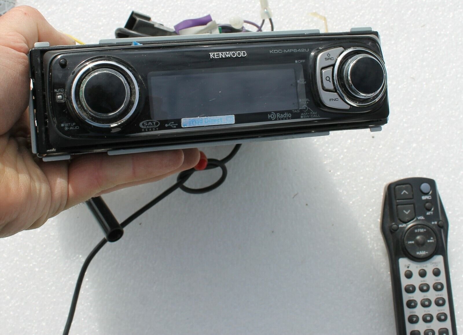 KENWOOD KDC-MP642U GENUINE Complete Radio with Wiring Harness & Remote for  sale online  eBay