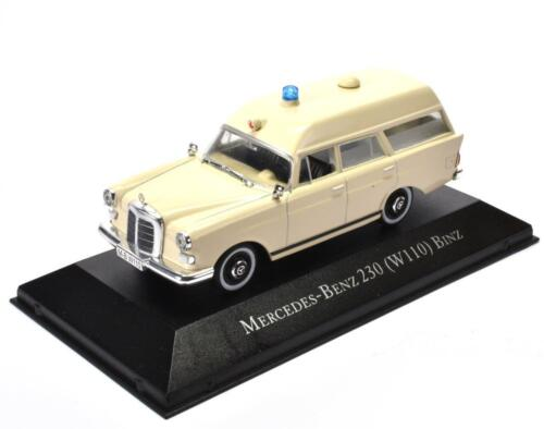 Model car DieCast 1//43 Mercedes Benz 230 W110 Binz Ambulance Atlas