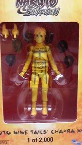 2012 sdcc exclusive naruto shippuden nine tails chakra mode action