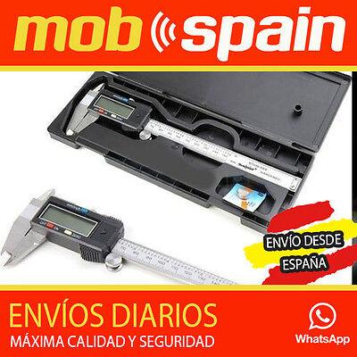 PIE DE REY DIGITAL con MALETIN profesional PANTALLA LCD metálico ACERO ESPAÑA!!