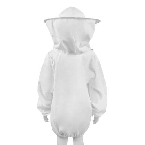 Beekeeping Jacket Premium Beekeeper Pull Over Suit Coat Outfit Kids L White