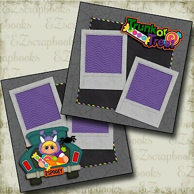 EZ Layout 3918 CASTLE HAPPY HALLOWEEN 2 Premade Scrapbook Pages DISNEY