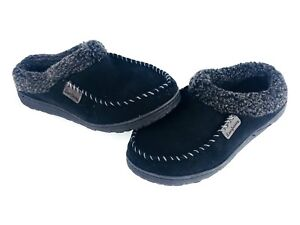717f4410783de2 Dearfoams Men s Slippers Small 7-8 Memory Foam Indoor Outdoor Black ...