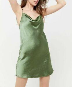 MOTEL-ROCKS-Camara-Dress-in-Satin-Olive-Green-M-Medium-mr107-1