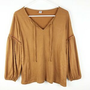 Old-Navy-Women-039-s-Mustard-Color-Blouse-Size-XS