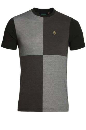 Mens T-Shirt LUKE SPORT Boozy Baz Crew Neck T-Shirt Black Mix