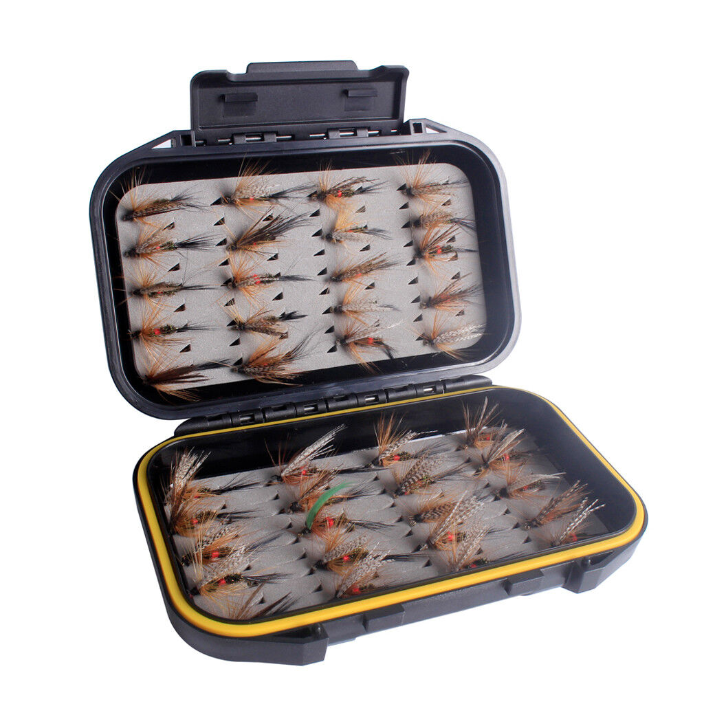 40Pcs  Trout Fly Fishing Flies Dry Lure Lures Fish Baits Hooks with Fly Box L  luxury brand