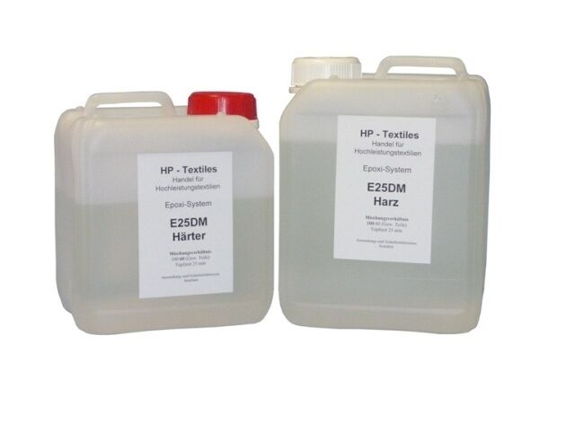 4kg Epoxi- Deckschichtharzsystem HP-E25DM Epoxy-Harz für Carbon UV-Beständig CfK