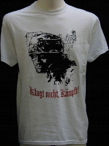 T-Shirt Klagt nicht kämpft weiss,bordeaux,Fallschirmjäger,Elite,Kreta,Soldat,WK
