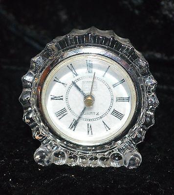 Fifth Avenue Crystal Clock Quartz Movement fresh battery