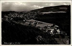 Jonsdorf-Zittauer-Gebirge-Sachsen-alte-DDR-Postkarte-1951-Panorama-Gesamtansicht