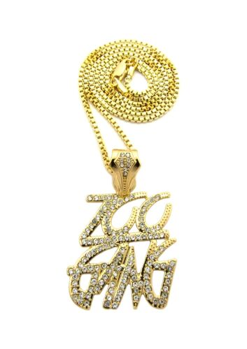 """XZ133 NEW ZOO GANG PENDANT /&24/"""" BOX//CUBAN//ROPE CHAIN HIP HOP NECKLACE"""