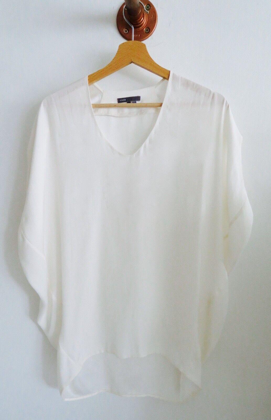 Vince Weiß silk blouse Größe S