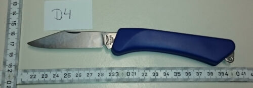 Taschenmesser // Handwerkermesser Bowie-Klinge blank  #D4 ADLER Messer blau
