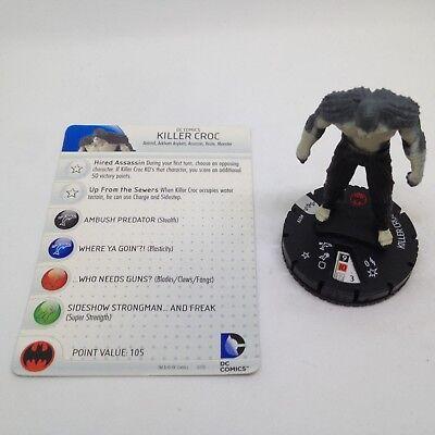 Arkham Origins set Killer Croc #019 Rare figure w//card! Heroclix Batman